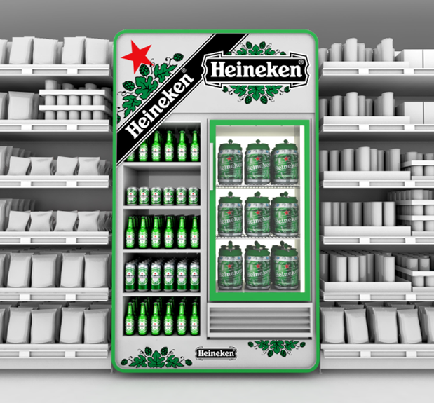 PLV Cross Merch Meuble Réfrigéré - Iconomedia Saison 2 - HEINEKEN