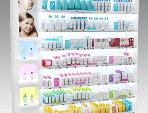 PLV Meuble Permanant Rétroéclairé – Pharmacie – Iconomedia Saison 2 – BIODERMA – 1