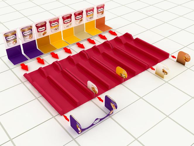 PLV Balisage Marque - Plateaux Injectés & Kakémono 3D - Iconomedia Saison 2 - HAAGEN DAZS