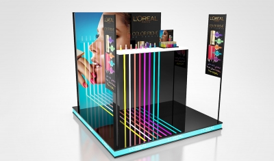 PLV POP UP STORE - Iconomedia Saison 2 - L'OREAL