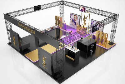 PLV POP UP STORE - STAND SALON - Iconomedia Saison 2 - YVES SAINT LAURENT
