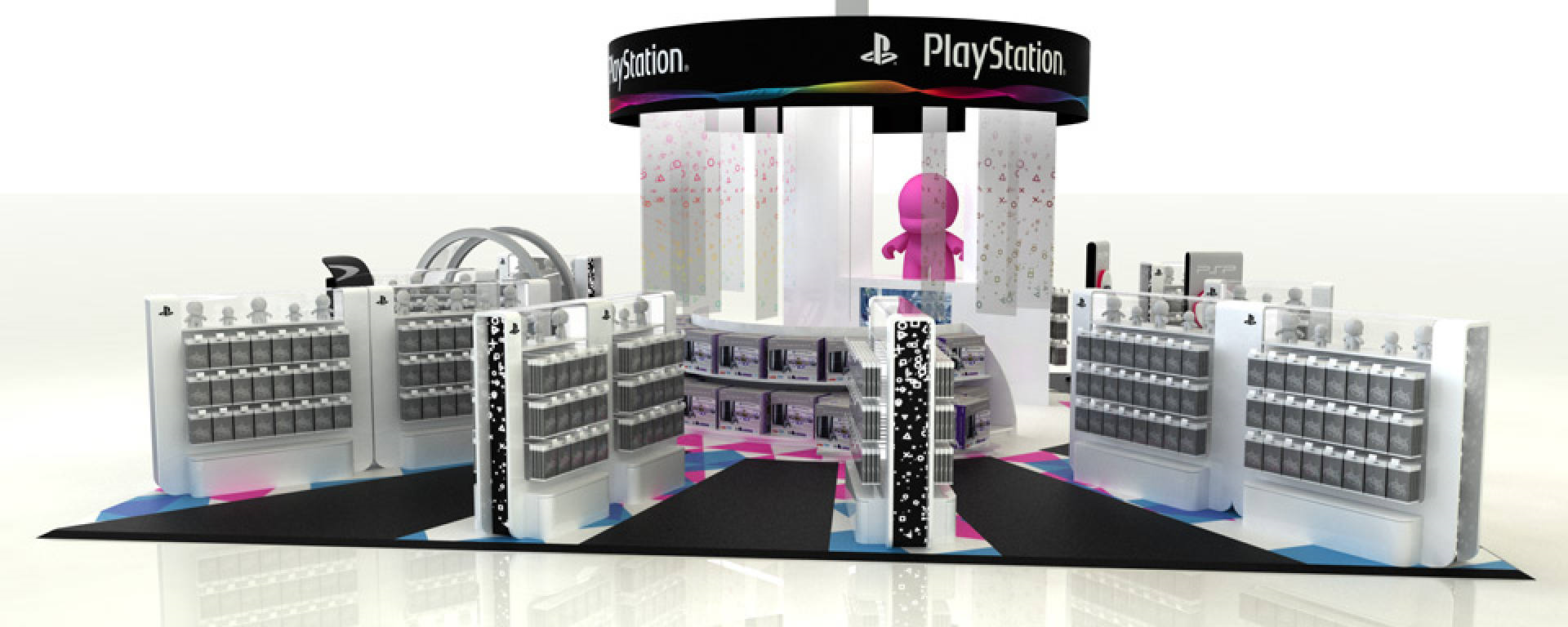 PLV Stand Digital - Iconomedia Saison 2 - SONY